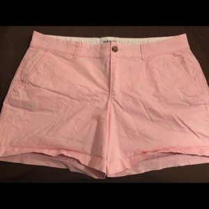 Size 12 baby pink old navy shorts. 3.5 in inseam